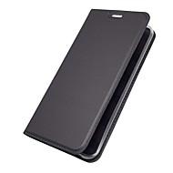 お買い得  携帯電話ケース-ケース 用途 LG V30 Q6 カードホルダー スタンド付き フリップ 磁石バックル フルボディーケース ソリッド ハード PUレザー のために LG V30 LG V20 LG Q6 LG G6