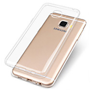 voordelige Galaxy A7(2016) Hoesjes / covers-hoesje Voor Samsung Galaxy A7(2017) A5(2017) Transparant Achterkant Effen Zacht TPU voor A3 (2017) A5 (2017) A7 (2017) A7(2016) A5(2016)
