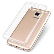 Недорогие Чехлы и кейсы для Galaxy A8-Кейс для Назначение SSamsung Galaxy A7(2017) A5(2017) Прозрачный Кейс на заднюю панель Однотонный Мягкий ТПУ для A3 (2017) A5 (2017) A7