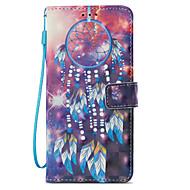 Недорогие Чехлы и кейсы для Galaxy S9-Кейс для Назначение SSamsung Galaxy S9 S9 Plus Бумажник для карт Кошелек со стендом Флип С узором Чехол Ловец снов Твердый Кожа PU для S9