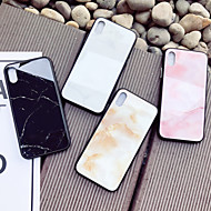 Недорогие Кейсы для iPhone 8 Plus-Кейс для Назначение Apple iPhone X iPhone 8 Защита от удара С узором Кейс на заднюю панель Мрамор Твердый Закаленное стекло для iPhone X