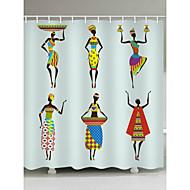 お買い得  浴室用小物-シャワーカーテン&フック クラシック 新古典主義 ポリエステル 現代風 ノベルティ柄 機械製 防水 浴室