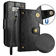 Недорогие Чехлы и кейсы для Galaxy S9 Plus-Кейс для Назначение SSamsung Galaxy S9 S9 Plus Бумажник для карт Кошелек Флип Магнитный Чехол Однотонный Твердый Кожа PU для S9 Plus S9
