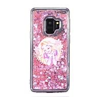 Недорогие Чехлы и кейсы для Galaxy S9-Кейс для Назначение SSamsung Galaxy S9 S9 Plus Движущаяся жидкость Кейс на заднюю панель Соблазнительная девушка Мягкий ТПУ для S9 Plus