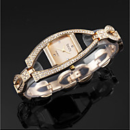 billige -ASJ Dame Quartz Armbåndsur Japansk Hverdagsklokke Legering Band Luksus Elegant Sølv Gylden