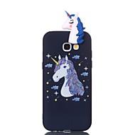 Недорогие Чехлы и кейсы для Galaxy A5(2017)-Кейс для Назначение SSamsung Galaxy A5(2017) A3(2017) С узором Своими руками Кейс на заднюю панель единорогом Мягкий ТПУ для A3 (2017) A5