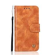 Недорогие Кейсы для iPhone 8 Plus-Кейс для Назначение Apple iPhone X iPhone 8 Бумажник для карт Кошелек Флип Магнитный Чехол Однотонный Твердый Кожа PU для iPhone X iPhone