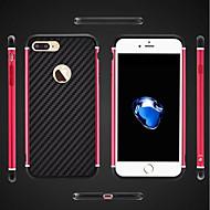 Недорогие Кейсы для iPhone 8 Plus-Кейс для Назначение Apple iPhone 8 iPhone 8 Plus Защита от удара Покрытие броня Кейс на заднюю панель броня Твердый Металл для iPhone 8