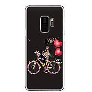 Недорогие Чехлы и кейсы для Galaxy S9-Кейс для Назначение SSamsung Galaxy S9 Прозрачный С узором Кейс на заднюю панель Кот Соблазнительная девушка Цветы Мягкий ТПУ для S9