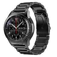 Недорогие Аксессуары для смарт-часов-Ремешок для часов для Gear S3 Frontier Gear S3 Classic Samsung Galaxy Классическая застежка Нержавеющая сталь Повязка на запястье