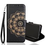 Недорогие Чехлы и кейсы для Galaxy S7-Кейс для Назначение SSamsung Galaxy S9 Plus / S9 Кошелек / Бумажник для карт / Флип Чехол Цветы Твердый Кожа PU для S9 / S9 Plus / S8 Plus