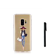 Недорогие Чехлы и кейсы для Galaxy S8 Plus-Кейс для Назначение SSamsung Galaxy S9 S9 Plus Полупрозрачный Кейс на заднюю панель Соблазнительная девушка Мягкий ТПУ для S9 Plus S9 S8