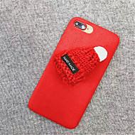 Недорогие Кейсы для iPhone 8-Кейс для Назначение Apple iPhone X iPhone 7 Plus С узором Кейс на заднюю панель Однотонный Мягкий текстильный для iPhone X iPhone 8 Pluss
