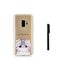Недорогие Чехлы и кейсы для Galaxy S-Кейс для Назначение SSamsung Galaxy S9 S9 Plus Полупрозрачный Кейс на заднюю панель Кот Животное Мягкий ТПУ для S9 Plus S9 S8 Plus S8 S7
