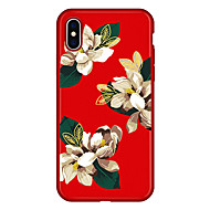 Недорогие Кейсы для iPhone 8 Plus-Кейс для Назначение Apple iPhone X / iPhone 8 Plus С узором Кейс на заднюю панель Мультипликация / Цветы Мягкий Настоящая кожа для iPhone X / iPhone 8 Pluss / iPhone 8