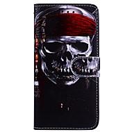 Недорогие Чехлы и кейсы для Galaxy Note-Кейс для Назначение SSamsung Galaxy Note 8 Кошелек / Бумажник для карт / со стендом Чехол Черепа Твердый Кожа PU для Note 8