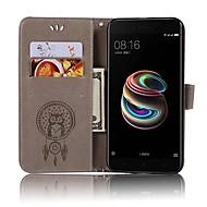 お買い得  携帯電話ケース-ケース 用途 Xiaomi Mi 6 Mi 5s カードホルダー ウォレット フリップ フルボディーケース フクロウ ハード PUレザー のために Xiaomi Mi 6 Xiaomi Mi 5X Xiaomi Mi 5s