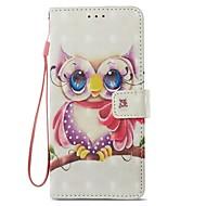 Недорогие Чехлы и кейсы для Galaxy S9 Plus-Кейс для Назначение SSamsung Galaxy S9 S9 Plus Бумажник для карт Кошелек со стендом Флип Магнитный Чехол Сова Твердый Кожа PU для S9 Plus