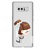 Недорогие Чехлы и кейсы для Galaxy Note 8-Кейс для Назначение SSamsung Galaxy Note 8 Прозрачный С узором Кейс на заднюю панель Соблазнительная девушка Мягкий ТПУ для Note 8