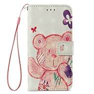 Недорогие Кейсы для iPhone 8-Кейс для Назначение Apple iPhone X iPhone 8 Plus Бумажник для карт Кошелек со стендом Флип Магнитный Чехол Животное Твердый Кожа PU для