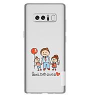 Недорогие Чехлы и кейсы для Galaxy Note-Кейс для Назначение SSamsung Galaxy Note 8 Прозрачный С узором Кейс на заднюю панель Мультипликация Мягкий ТПУ для Note 8