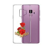 Недорогие Чехлы и кейсы для Galaxy S9 Plus-Кейс для Назначение SSamsung Galaxy S9 Plus Прозрачный С узором Кейс на заднюю панель Цветы Мягкий ТПУ для S9 Plus