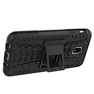Недорогие Чехлы и кейсы для Galaxy J3-Кейс для Назначение SSamsung Galaxy J7 V / J7 Max Защита от удара / со стендом / броня Кейс на заднюю панель Плитка / броня Твердый ПК для J7 V / J7 Prime / J7 Max