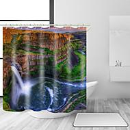 お買い得  浴室用小物-シャワーカーテン&フック 近代の 田園風 ポリエステル 現代風 ノベルティ柄 機械製 防水 浴室