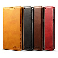 Недорогие Чехлы и кейсы для Galaxy S-Кейс для Назначение SSamsung Galaxy S9 S9 Plus Бумажник для карт Кошелек Флип Магнитный Чехол Однотонный Твердый Кожа PU для S9 Plus S9