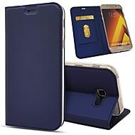 Недорогие Чехлы и кейсы для Galaxy A5(2017)-Кейс для Назначение SSamsung Galaxy A8 2018 / A5(2017) Кошелек / Бумажник для карт / Защита от удара Чехол Однотонный Твердый Кожа PU для A5(2018) / A7(2018) / A3 (2017)