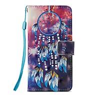 Недорогие Кейсы для iPhone 8-Кейс для Назначение Apple iPhone X iPhone 8 Plus Бумажник для карт Кошелек со стендом Флип Магнитный Чехол Ловец снов Твердый Кожа PU для