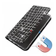 Недорогие Чехлы и кейсы для Galaxy S9 Plus-Кейс для Назначение SSamsung Galaxy S9 S9 Plus Бумажник для карт Флип Магнитный Чехол Сияние и блеск Твердый Кожа PU для S9 Plus S9