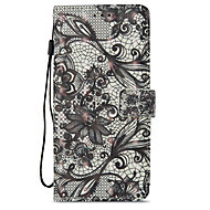 Недорогие Чехлы и кейсы для Galaxy S8-Кейс для Назначение SSamsung Galaxy S9 S9 Plus Бумажник для карт Кошелек со стендом Флип С узором Чехол Кружева Печать Твердый Кожа PU для
