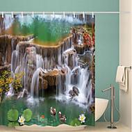お買い得  浴室用小物-シャワーカーテン&フック クラシック ポリエステル 現代風 機械製 防水