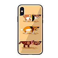 Недорогие Кейсы для iPhone 8-Кейс для Назначение Apple iPhone X iPhone 8 С узором Кейс на заднюю панель С собакой Твердый Закаленное стекло для iPhone X iPhone 8
