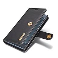 お買い得  -ケース 用途 Sony Xperia XZ1 カードホルダー ウォレット スタンド付き フリップ フルボディーケース ソリッド ハード 本革 のために Sony Xperia XZ1