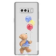 Недорогие Чехлы и кейсы для Galaxy Note-Кейс для Назначение SSamsung Galaxy Note 8 Прозрачный С узором Кейс на заднюю панель Воздушные шары Животное Мягкий ТПУ для Note 8