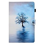 Недорогие Чехлы и кейсы для Galaxy Tab E 9.6-Кейс для Назначение SSamsung Galaxy Tab A 8.0 (2017) Tab A 10.1 (2016) Бумажник для карт со стендом Флип Чехол дерево Твердый Кожа PU для