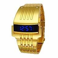 preiswerte Schmuck & Armbanduhren-Herrn Sportuhr Quartz Wasserdicht Legierung Band digital Luxus Modisch Schwarz / Silber / Gold - Gold Schwarz Silber