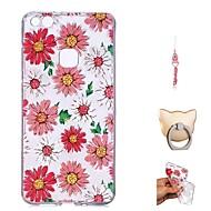 preiswerte Handyhüllen-Hülle Für Huawei P10 Lite / P9 Lite Transparent / Muster Rückseite Blume Weich TPU für P10 Lite / P10 / Huawei P9 Lite