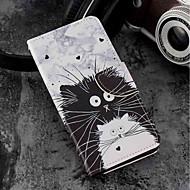 お買い得  携帯電話ケース-ケース 用途 Xiaomi Mi 6X / Mi 5X カードホルダー / ウォレット / スタンド付き フルボディーケース 猫 ハード PUレザー のために Xiaomi Mi 6X(Mi A2) / Xiaomi Mi 5X / Xiaomi A1