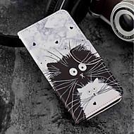 お買い得  携帯電話ケース-ケース 用途 Sony Xperia XZ2 / Xperia XZ2 Compact カードホルダー / ウォレット / スタンド付き フルボディーケース 猫 ハード PUレザー のために Xperia XZ2 / Xperia XZ2 Compact / Xperia