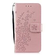 Недорогие Кейсы для iPhone 8 Plus-Кейс для Назначение Apple iPhone X / iPhone 8 Бумажник для карт / Кошелек / со стендом Чехол Цветы Твердый Кожа PU для iPhone 8 Pluss /