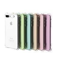Недорогие Кейсы для iPhone 8 Plus-Кейс для Назначение Apple iPhone 8 / iPhone 7 Защита от удара / Мигающая LED подсветка / Прозрачный Кейс на заднюю панель Однотонный Мягкий ТПУ для iPhone X / iPhone 8 Pluss / iPhone 8
