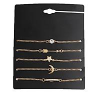 cheap -Women's 5pcs Chain Bracelet / Charm Bracelet - Metallic / Vintage Geometric Gold Bracelet For Date / Street / Women's / 5pcs