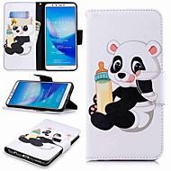 preiswerte Handyhüllen-Hülle Für Huawei Y9 (2018)(Enjoy 8 Plus) / Enjoy 7S Geldbeutel / Kreditkartenfächer / mit Halterung Ganzkörper-Gehäuse Panda Hart PU-Leder