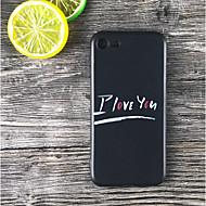 Недорогие Кейсы для iPhone 8-Кейс для Назначение Apple iPhone X / iPhone 8 Plus Защита от удара / Матовое / С узором Кейс на заднюю панель Слова / выражения Мягкий ТПУ