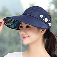 abordables Sombreros, Capas y Bandanas-Casquillo Verano Plegado portátil / Resistentes a los rayos UV / Transpirabilidad Senderismo / Ejercicio al Aire Libre / Viaje Mujer