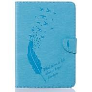 Недорогие Чехлы и кейсы для Samsung Tab-Кейс для Назначение SSamsung Galaxy Tab S2 8.0 Бумажник для карт Кошелек со стендом С узором Авто Режим сна / Пробуждение Чехол Перья
