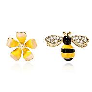 Недорогие Украшения в цветочном стиле-несовместимый Серьги-гвоздики - Цветы и растения, Цветы, Пчела Мода Желтый Назначение Повседневные